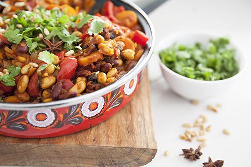 Moroccan Spiced Beans Vegan