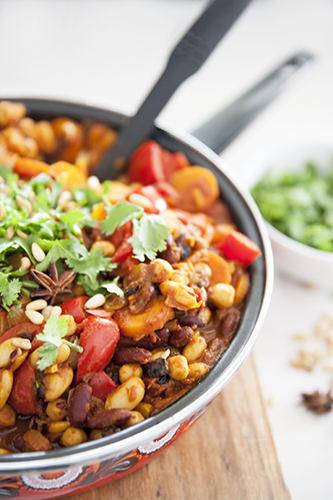 Moroccan Spiced Vegan Beans