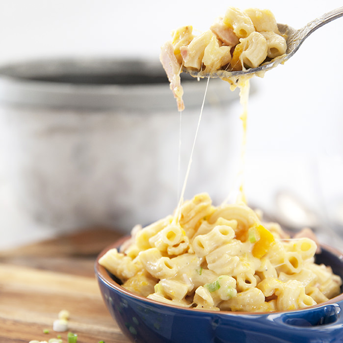 Rice Cooker Loaded Mac and Cheese
