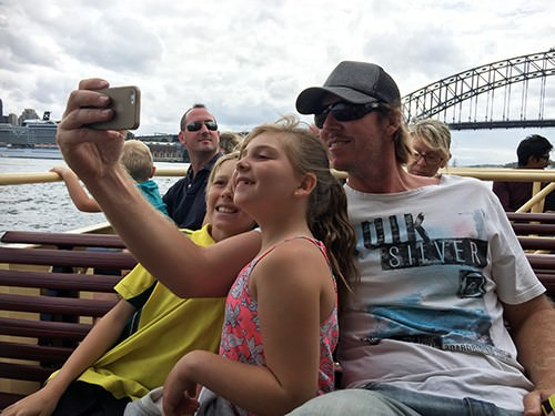Selfies on the Manly Ferry