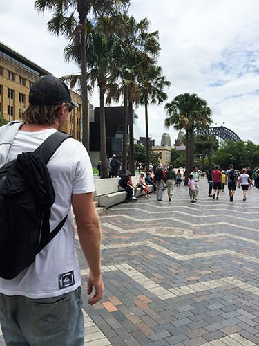 Walking to The Rocks from Circular Quay