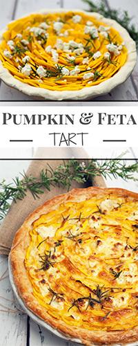 Pumpkin & Feta Tart - Pin