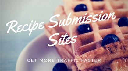Recipe Submission Sites