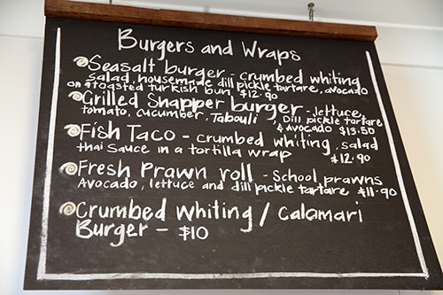 Seasalt Burgers & Wraps Menu