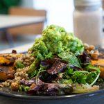 Chickpea & Roasted Feta Salad w Avocado