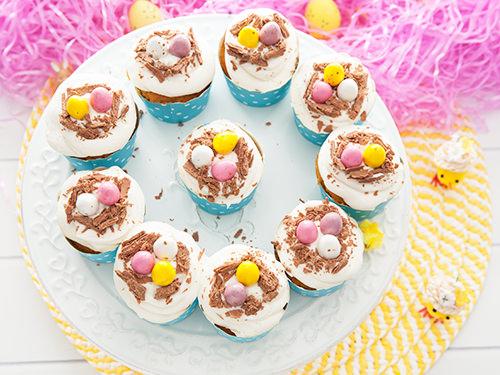 Chocolate Egg Nest Cupcakes