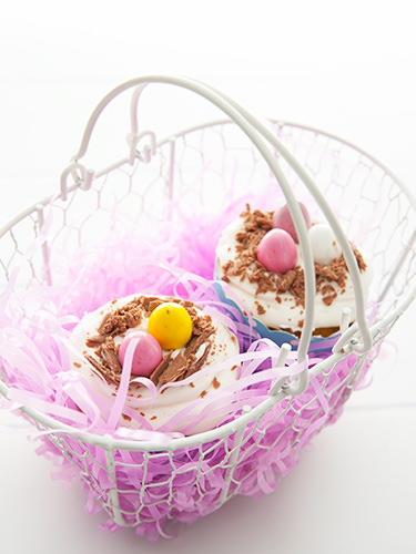 Cupcake Easter Egg Baskets