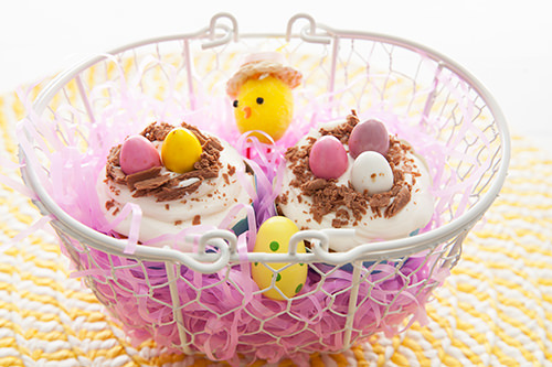 Easter Cupcakes Nests
