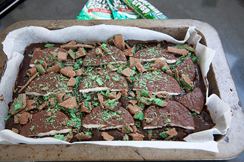 First Layer Chocolate Mint Brownie