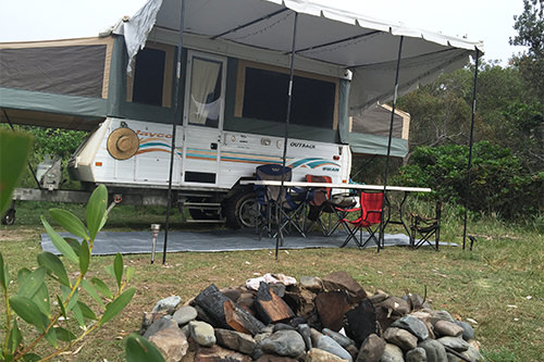 Our Pop Up Camper at Yuraygir National Park