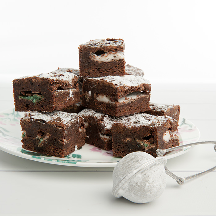 Mint Stuffed Chocolate Brownies Submission