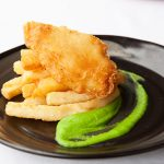 Tempura Barramundi with Pea Puree