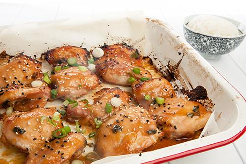 Baked Miso Glazed Chicken
