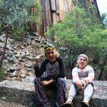 Kids at Sawn Rocks National Park