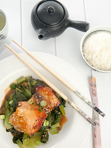 Low Calorie Miso Glazed Chicken