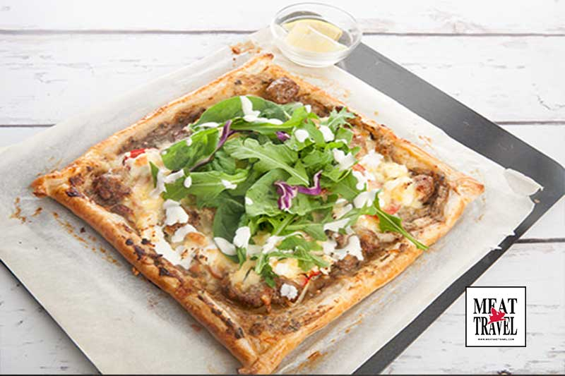 Puff Pastry Pizza Gourmet Style Ready to eat