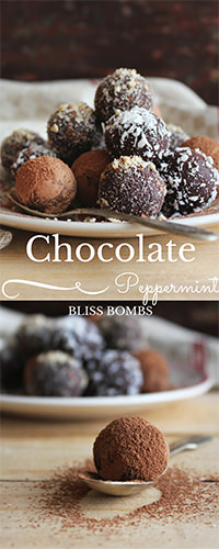 Chocolate Peppermint Bliss Bombs