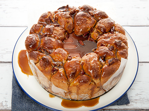 Pecan and Salted Caramel Monkey Bread