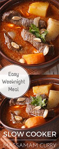 SLOW COOKER Massamam Curry