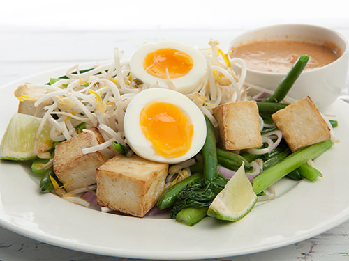 Tofu Gado Gado with Sate