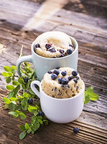 Blueberry and Lemon Mug Cake