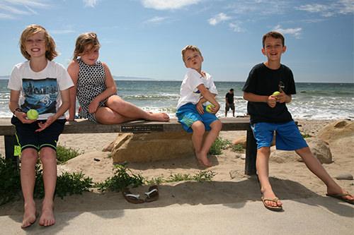 Kids at Santa Barbara