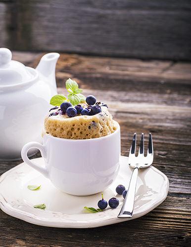 Lemon and Blueberry Mug Cake
