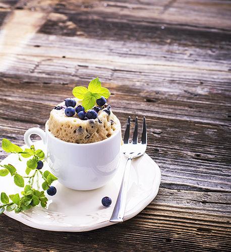 Lemon & Poppy seed mug cake