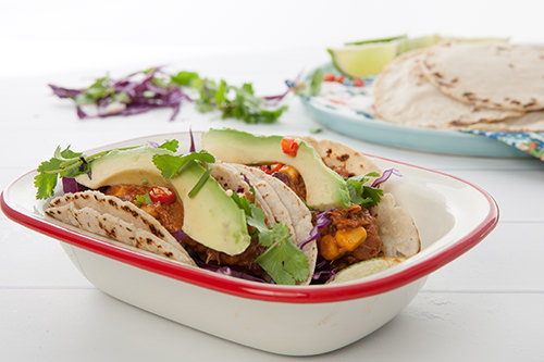 Mexican Chicken Tacos in Slow Cooker