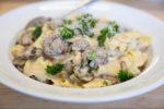 Pasta in Mushroom Cream Sauce