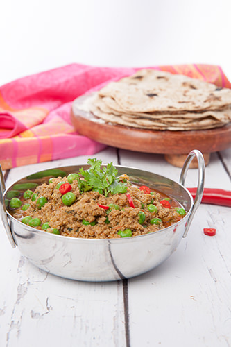 Chapati with Spiced Lamb