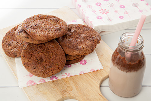 Chocolate Malted Milo Cookies