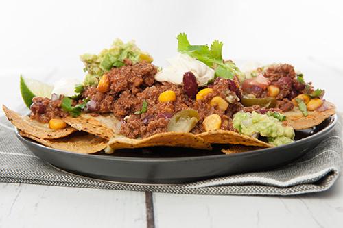 Mexican Chili Mince Nachos