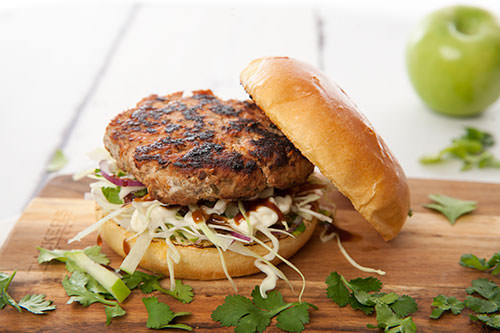 Pork Brioche Burgers with Apple Coleslaw