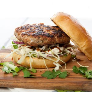 Fennel & Pork Burger w Apple Slaw