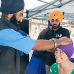 Turban Wrapping by the Sikh Temple