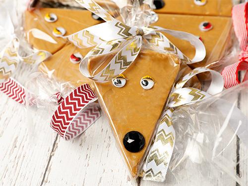 Single Reindeer Caramel Fudge