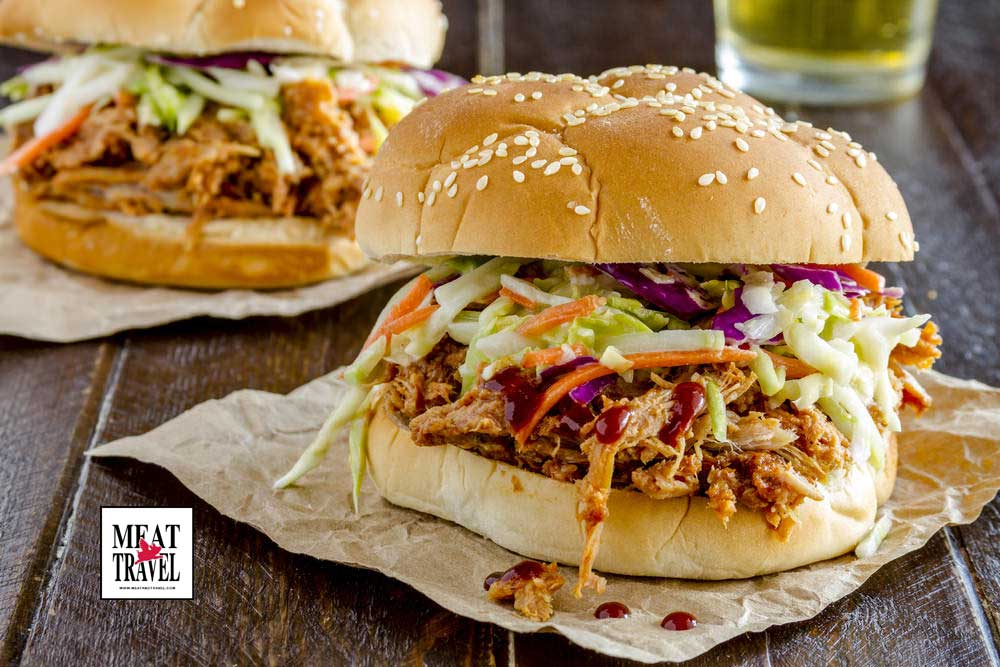 pulled pork burgers recipe