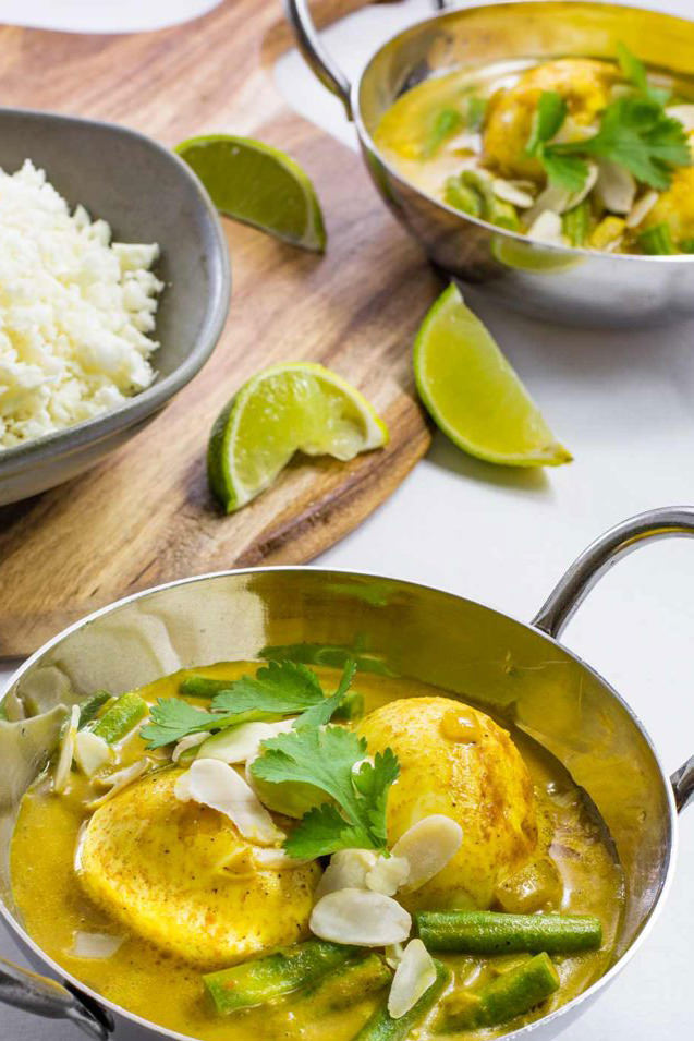 Indian Curry Egg With Rice