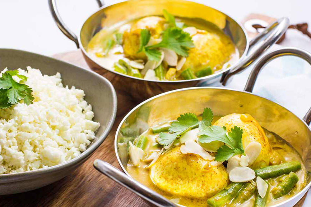 Indian Egg Curry Low Carb