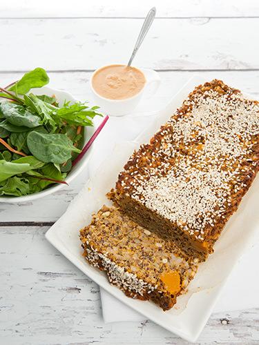 Lentil Quinoa Vegetarian Loaf