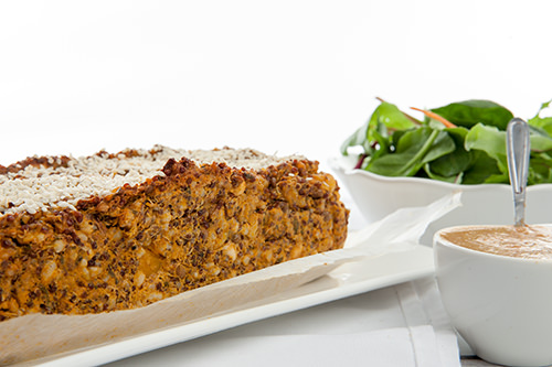 Vegetable Quinoa and Lentil Loaf