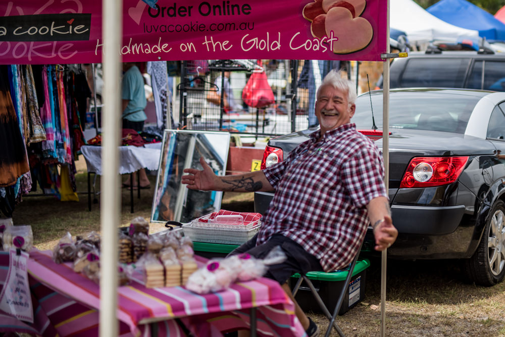 store owner cookie guy at Pottsville Markets