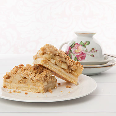 Portrait Apple Streusel Slice