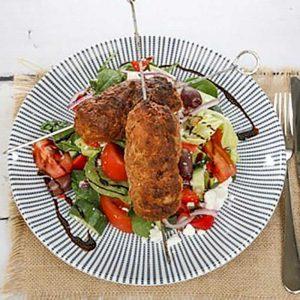 Lamb Souvlaki and Greek Salad - easy dinner recipe