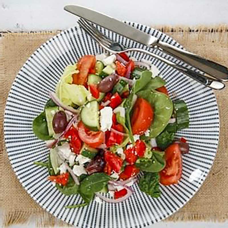 Lamb Souvlaki and Greek Salad Ingredients - easy dinner recipe