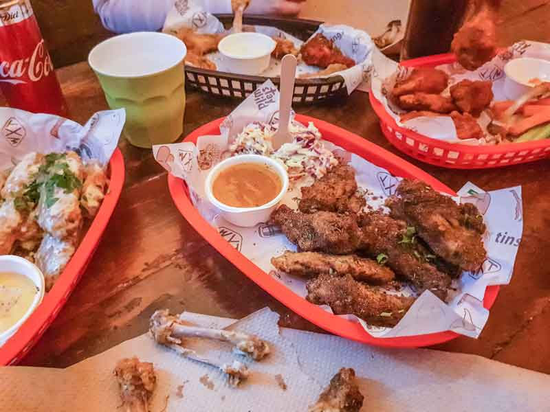 Wings and Tins Chicken Wing Feast