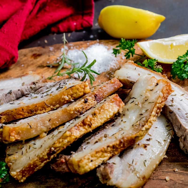 Lemon Herb Pork Belly Spare Ribs Recipe