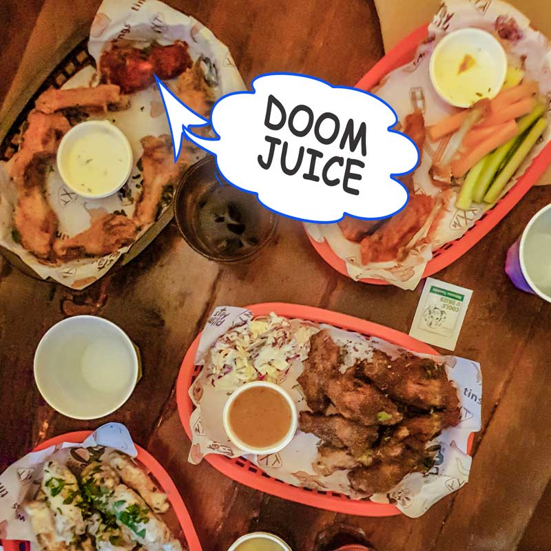 Wings and Tins Doom Juice